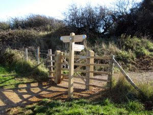 *October Ditchling Beacon new gate and path opening  – South Downs, Sussex.