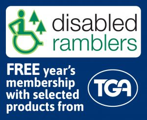 A year's free membership of the Disabled Ramblers when you buy selected products from TGA